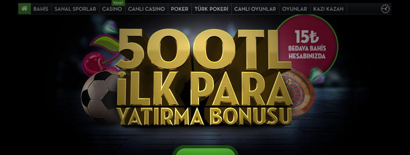 Üye Olan Herkese 500TL Bonus